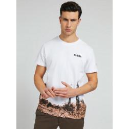 GUESS - T-shirt stampa cactus M1GI59 K8FQ1 TWHT