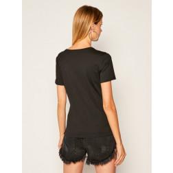 GUESS - T-shirt scritta paillettes W0YI0H K46D1 JBLK