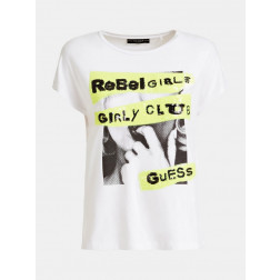 GUESS - T-shirt logo paillettes W0YI95 K68D0 TWHT