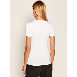 GUESS - T-shirt triangolo logo W0YI85 J1300 TWHT