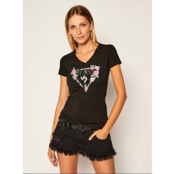 GUESS - T-shirt triangolo logo W0YI85 J1300 JBLK