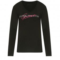 GUESS - T-shirt scritta frontale W0YI88 J1300 JBLK