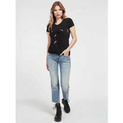 GUESS - t-shirt fiocco logato W0YP87 K7DN0 JBLK