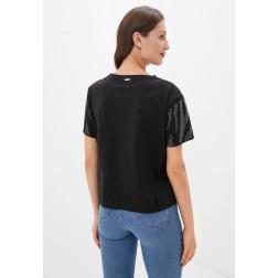 GUESS - T-shirt over strass W0YI0J K9MJ0 JBLK