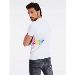GUESS - T-shirt logo laterale M0YI45 K8HM0 TWHT
