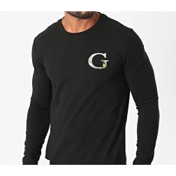 GUESS - T-shirt logo manica lunga M0YI46 J1300 JBLK