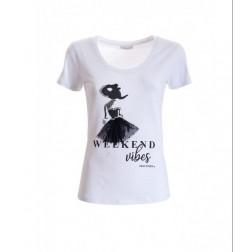 FRACOMINA - T-shirt stampa ballerina W05002J00133 278