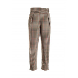 FRACOMINA - Pantalone carrot quadri W10077W06895 210