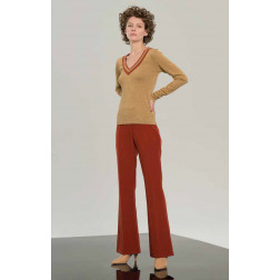 XT - Pantalone dritto vita alta WP8004W17201 587