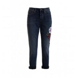 FRACOMINA - Jeans applicazione fiori W10005D00902 346
