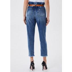 LIU JO JEANS - Jeans vita alta con cintura UA1072 D4623 78205