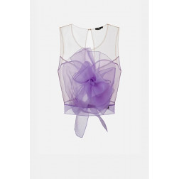 ELISABETTA FRANCHI - Top in organza TO02211E2 Q38