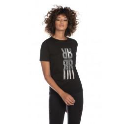 RELISH - T-shirt con scritta strass RDP2101033021 1199 CAPOVES