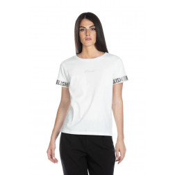 RELISH - T-shirt con nastro strass RDP2101033003 1101 CARLIT