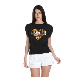 RELISH - T-shirt stampa cuore RDP2101033007 1101 BEGO