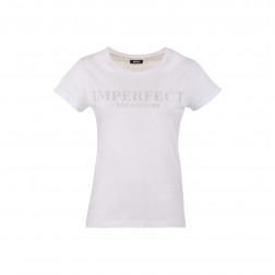 IMPERFECT - T-shirt con scritta strass IW21S04TG