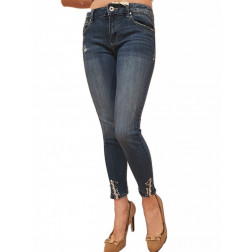 FRACOMINA - Jeans cropped vintagestone FR21SP5007 D40804 BETTY 277