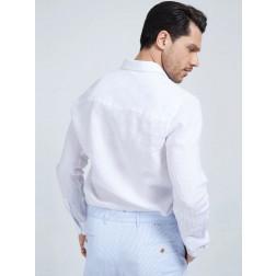 MARCIANO GUESS - Camicia in lino 1GH439 4373Z TWHT