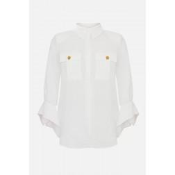 ELISABETTA FRANCHI - Camicia manica foulard CA32311E2 360