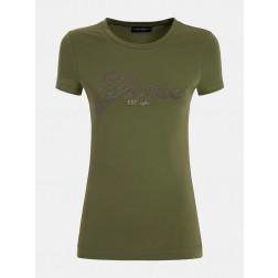 GUESS - T-shirt logo con strass W1YI85 J1311 G8DO
