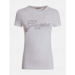 GUESS - T-shirt logo con strass W1YI85 J1311 G011