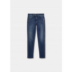 LIU JO JEANS - Jeans strass laterale UF1035 D4448 78220
