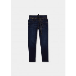 LIU JO JEANS - Jeans cinta con borchie UF1098 D4376 78215