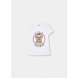 LIU JO JEANS - T-shirt stampa barboncino WF1254 J0166 S9115