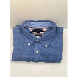 TOMMY HILFIGER - Camicia in lino MW17646 DY8